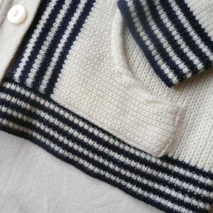 70's hooded knit cardigan & U.S.ARMY chino
