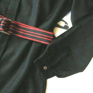 70〜80's silk wool one-piece dress