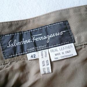 80's Salvatore Ferragamo nubuck skirt