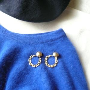 80's neon blue sweater