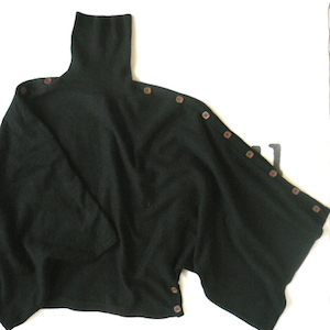 Used black poncho