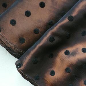 50's bronze and black polka dot skirt