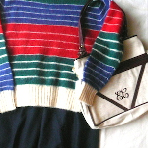 80〜90's Ralph Lauren sweater & 70〜80's evan-picone