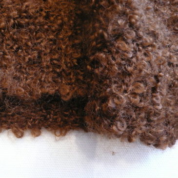 used brown fluffy long knit