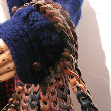 80's navyblue knit jacket