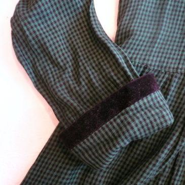 80's shepherd checked one-piece dress