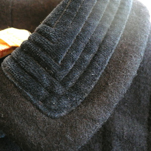 60's navy wool coat