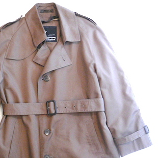 70〜80's  single breasted trench coat