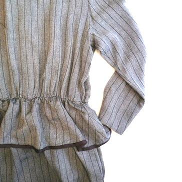 early 80's monotone peplum dress