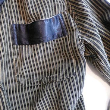 50's stripe corduroy robe