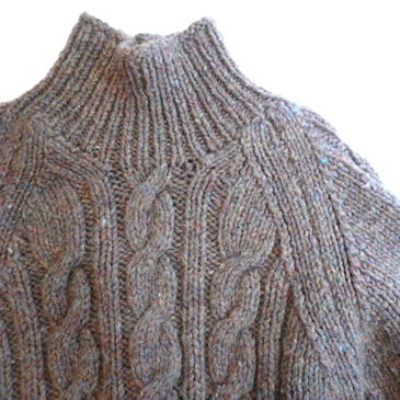 80's cable knit sweater