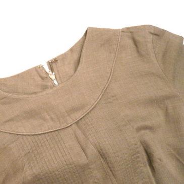 60's pintauck  cotton tunic dress