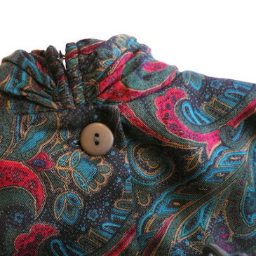 80's paisley rayon dress