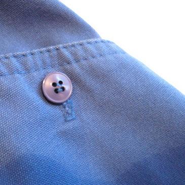 70's sky blue skirt & 90's block check shirt