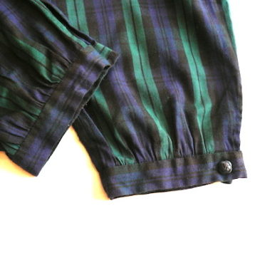 80's tartan checked all in one