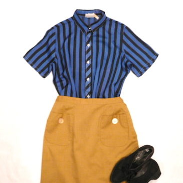 50〜60's mustard yellow  skirt