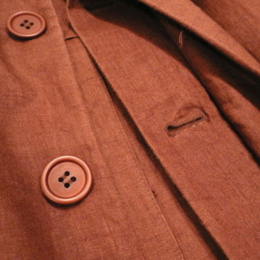used brown linen JKT