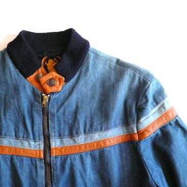 70's denim zip-up blouson