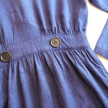 80〜90's midnight blue dress