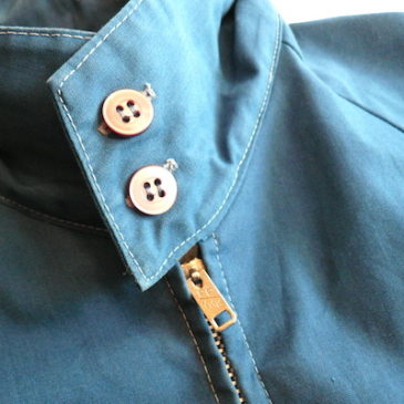 70's blue drizzler jacket