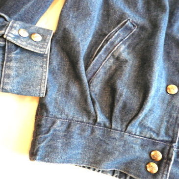 80's denim snap button JKT