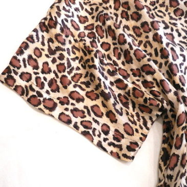 used leopard pattern silk robe
