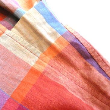 80〜90's Madras Check sleeveless tops