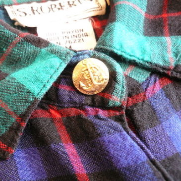lete 80〜90's plaid all in one