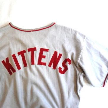 60's baseball T-shirt & skirt