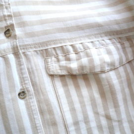 80〜90's stripe linen blouse & easy pants