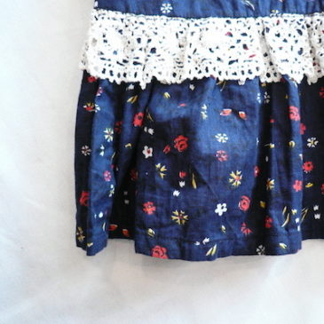 late 60~70's flower printed maxi skirt