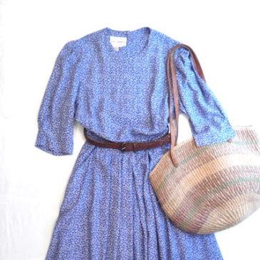 90's flower pattern one-piece dress