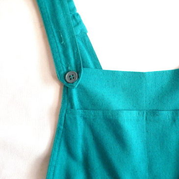 80's emerald green salopette pants
