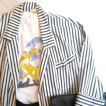 70〜80's stripe JKT & 80's  T-shirt