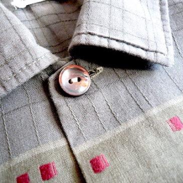 60's mossgreen cotton shirt