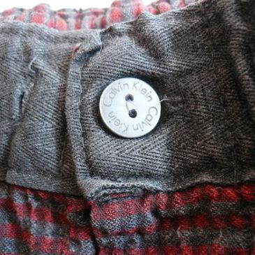 Used black lace blouse & CK Pajama pants