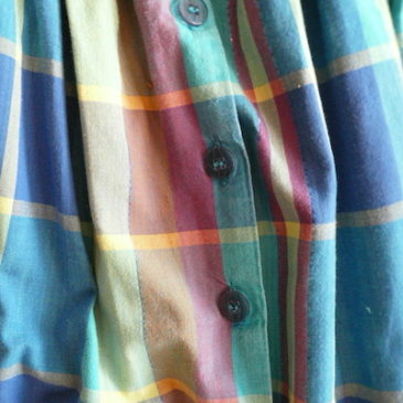 90's madras checked skirt
