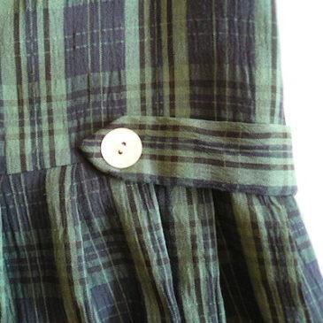 80's tartan checked jumper dress