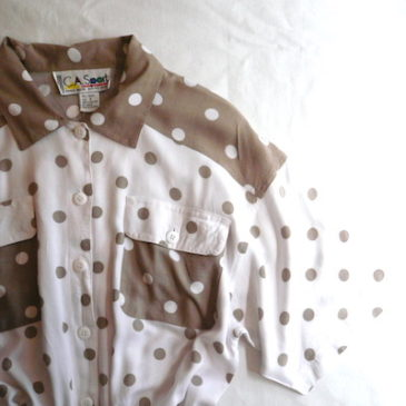80's polka dot all in one