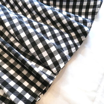 80's gingham checked one-piece dress
