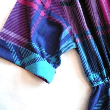 80's plaid one-piece dress