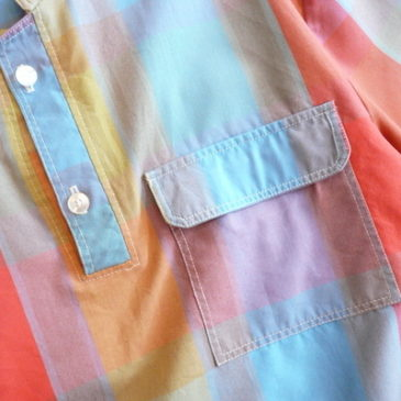 late70's〜80's plaid cotton pullover