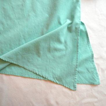 80's pastel green cut & sew
