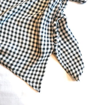 used gingham check cutest & wide pant