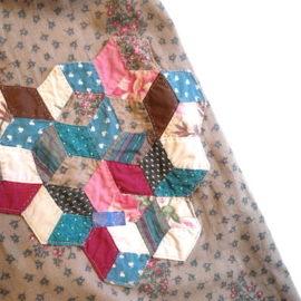 70's flower printed cotton dress