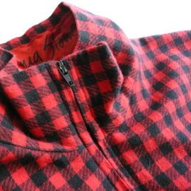 80's buffalo check flannel dress
