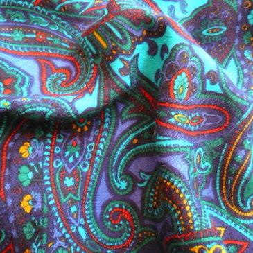 70〜80's paisley one-piece dress