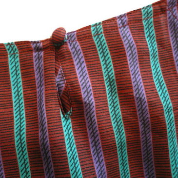 70's corduroy button skirt & late 70's stripe tops