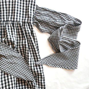 Used gingham checked jumper dress