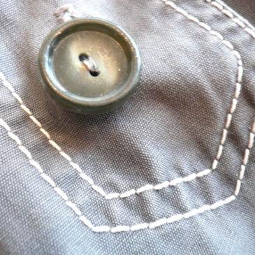 60's coverall JKT & plaid skirt
